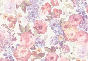 Фото - Обои на стену с цветами винного цвета - 493379>