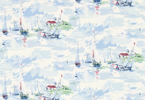 Фото - Морские обои на стену голубого цвета - 215651>