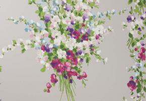 Фото - Обои на стену с цветами серого цвета - 219700>