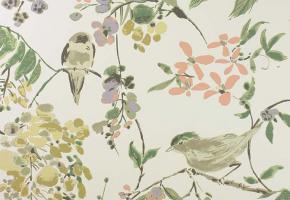 Фото - Обои на стену в стиле прованс зеленого цвета - 219688>