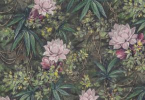 Фото - Обои на стену в скандинавском стиле розового цвета - 496418>