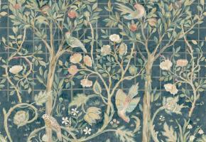 Фото - Обои на стену с цветами изумрудного цвета - 428152>