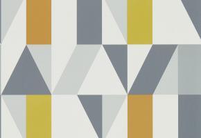 Фото - Геометрические обои на стену светлого цвета - 368413>