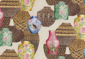 Фото - Светло-коричневые ткани для штор - 323953>