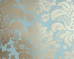 Фото - Голубые бумажные обои на стену - 174602>
