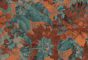 Фото - Обои на стену с цветами терракотового цвета - 458906>