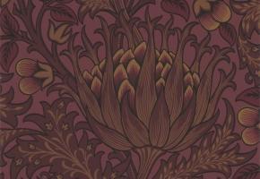 Фото - Обои на стену с цветами бордового цвета - 450243>